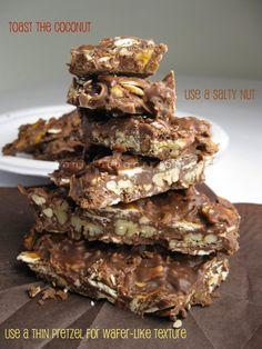 sweet and salty chocolate bark from Vanilla Sugar Blog
