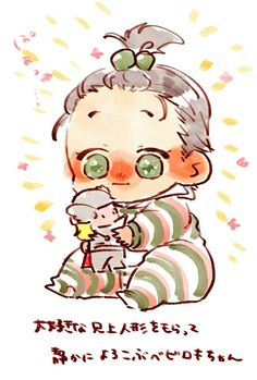 Baby Loki with Thor toy || Cr: 篠森もきゅ