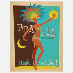 Brazil Carnaval Modern Print by  Anderson Design Group