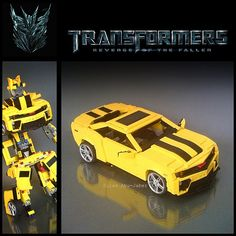 https://flic.kr/p/828bAr | LEGO transformable Camaro (BumbleBee) | See more on MOCpages here: mocpages.com/moc.php/202735
