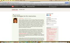 """3/5 Instructional strategy apps or websites for teachers of ELLs. This website is called """"Teaching Channel"""". On this website they provide teaching strategies, an explanation of each strategy, and how it helps ELL students. Also provided are six links to video clips. These videos show a middle school with ELL instruction in a middle school."""