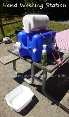 DIY Camping Hacks - Camping Hand Washing Station - Easy Tips and Tricks, Recipes for Camping - Gear Ideas, Cheap Camping Supplies, Tutorials for Making Quick Camping Food, Fire Starters, Gear Holders and More diyjoy.com/...