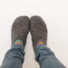 Gratis haakpatroon pantoffels / Free pattern slippers   Haakt.nl   Bloglovin'