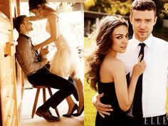 Couple photo idea.. Yes, it's justin timberlake + mila kunis