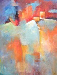 Buy Live Out Loud, a Acrylic on Canvas by Karen Hale from United States. It portrays: Abstract, relevant to: bold, colorful, contemporary, decor, multicolored This is an original abstract contemporary painting presented on a gallery wrapped canvas.  There are 10+ layers of paint,texture mediums, glazes, washes and may have added chalk pastel, graphite.  The edges are painted black and it is wired ready to hang. Each piece has a clear gloss UV protective finish coat.