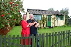 """This """"cosy"""" Humberston Fitties chalet has been transported back in time and given an early century feel Back In Time, Holiday Destinations, Sheds, Old Town, 1920s, Restoration, England, Couple Photos, Places"""
