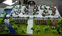 Display Board, Lizardmen, Warhammer Fantasy - Lizardmen Display Board - Gallery - DakkaDakka | Just a few skulls short of a throne.