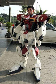 Sword Impulse Gundam Costume Made Out of Paper                              …