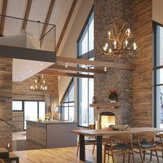 Jens byggmarks rustika fjäll-lodge. Lyxigt fjällstuga i modern och rustik stil