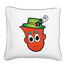 This soft and durable throw pillow is the perfect accent for any room. Tailored with colored piping around the edges. Square Canvas, Pillow Design, Color Combinations, Cartoons, Snoopy, Meet, Throw Pillows, Room, Color Combos