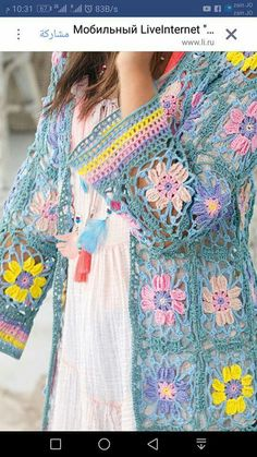 Crochet Jacket, Crochet Poncho, Crochet Cardigan, Crochet Granny, Knitting Patterns, Crochet Patterns, Crochet Summer Dresses, Freeform Crochet, Jacket Pattern
