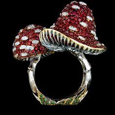 Jewellery Theatre: Jewellery Fairy-Tales Ring, 18k white and yellow gold, diamonds, red sapphires, tsavorites.