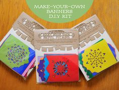 $26 Papel Picado DIY Kit . Makes 4 banners . Mexican papercut bunting decorations via Etsy