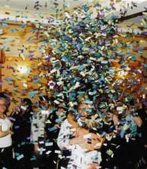 Confetti Surprise: put confetti on fan blades. For a birthday, graduation, April fools, etc.