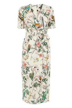 Bird Print Wrap Dress, £45,Warehouse