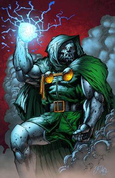 Doctor Doom by Lummage Dr Doom Marvel, Marvel Comics Superheroes, Marvel Villains, Marvel Art, Marvel Heroes, Marvel Comic Character, Comic Book Characters, Marvel Characters, Comic Books Art