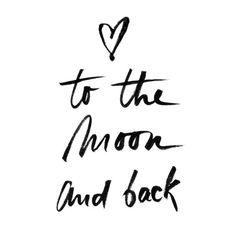 #love #moon