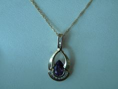 #Amethyst #Necklace #Pendant #whitegold #Liverpool #gemstone #gems #DianaJewelers Interchangeable stones. Four necklaces in one!