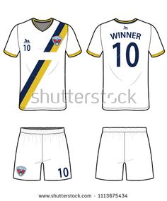 09e65040d30 Soccer Uniform Design vector illustration flat sketches template