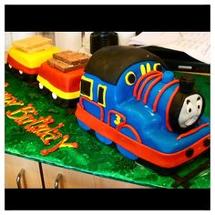 Thomas the Train Cake by Chef Francis from Rustika Bakery! Visit us rustikacafe.com or rustikacafe@gmail! #rustikacafe