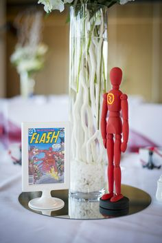 Superhero Wedding Photography - Reception - Flash - Centerpiece