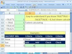 Excel Magic Trick 314: Convert TRUE & FALSE to 1 and 0 - YouTube