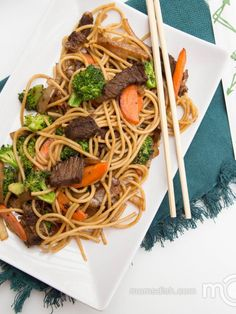 The best Beef Lo Mein I have tried, one of our family and fan favorite recipes. - Asian