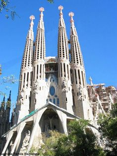 La Sagrada Famila, Barcelona - This church is monumental and hosts some of the most beautiful and innovative architecture.