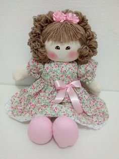 PDF cloth doll pattern Tutorial doll is 27 cm / 10 in Doll body Cloth Doll Pattern PDF Sewing Tutorial Soft Doll Pattern DIY pdf pattern Crochet Toys Patterns, Stuffed Toys Patterns, Doll Clothes Patterns, Doll Patterns, Pink Panda, Child Doll, Child Baby, Doll Hair, Soft Dolls
