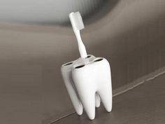 Toothbrush tooth holder