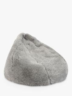 Buy Grey John Lewis & Partners Faux Fur Bean Bag from our Bean Bags & Pouffes range at John Lewis & Partners. Big Bean Bags, Cool Bean Bags, Plain Cushions, Cushions On Sofa, Modern Bean Bag Chairs, Bean Bag Pouffe, Faux Fur Bean Bag, John Lewis, Park
