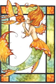 kissing_fish_mermaid.jpg (403×600) Sacral chakra symbol.