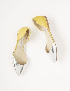 Shine on! #Boden #springpreview..metallic shoes