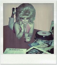 The hair, nails, Elvis, a smoke & a shake - don't need much more in life!