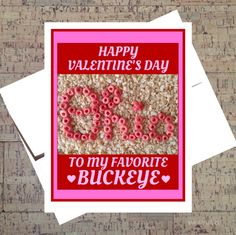 Ohio State Card Funny Valentine Card Buckeye by WhatACardCards