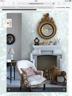 1000 images about living room on pinterest edwardian for Home wallpaper joey s