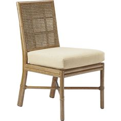 Buy Square Back Caned Side Chair by McGuire Furniture - Quick Ship designer Furniture from Dering Hall's collection of Mid-Century / Modern Transitional Dining Chairs.