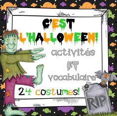 This French Halloween package includes a variety of activities and vocabulary cards you can use in the weeks leading up to Halloween. The file includes: 24 costumes vocabulary cards, 28 word wall vocabulary cards and 5 activities in French.