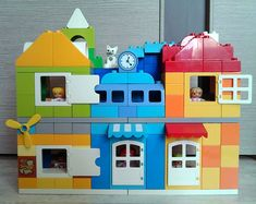 Lego Duplo Häuser - New Ideas Lego Minecraft, Hama Beads Minecraft, Minecraft Buildings, Perler Beads, Lego Disney, Classic Lego Sets, Lego Poster, Lego Duplo Train, Art Hama
