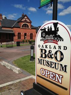 Historic Oakland B&O Museum in downtown Oakland, Maryland Deep Creek Lake, Historical Landmarks, Group Tours, Activities To Do, Small Towns, Maryland, Places Ive Been, Hygge, Vacation Ideas
