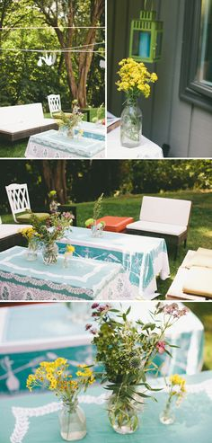 Whimsical outdoor baby shower