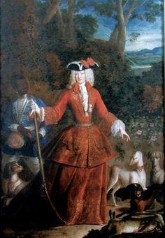 1690s- Maria-Anna of Neuburg, Queen of Spain by Robert Gabriel Gence