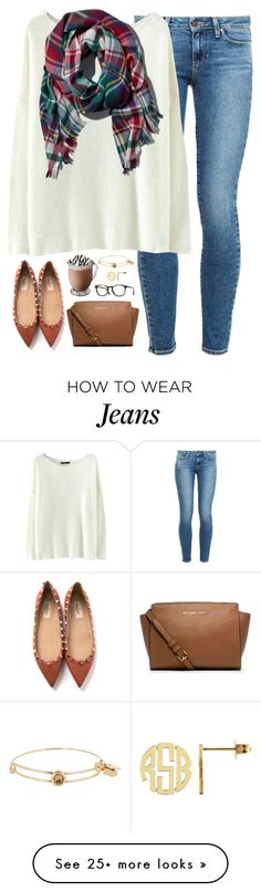 """when love is real, it finds a way."" by kaley-ii on Polyvore featuring Paige Denim, Abercrombie & Fitch, Valentino, Alex and Ani, Michael Kors and Oliver Peoples"