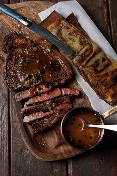 Grilled Sirloin Three Peppercorn Whisky Sauce. www.wildeorchard....