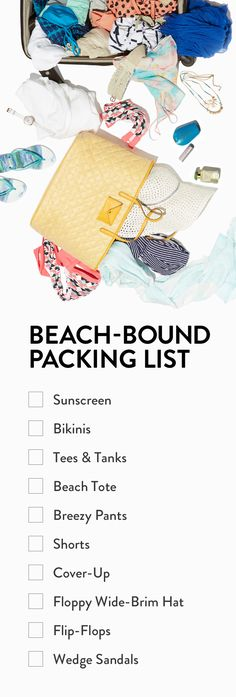 Packing essentials for a sunny beach vacation. Yes, please!