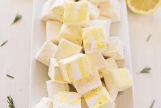 Lemon and Rosemary Marshmallows