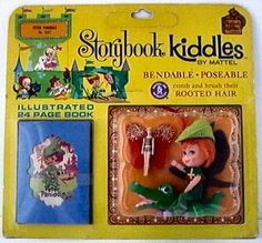 The Original 24 Liddle Kiddles were the first Kiddles introduced.  Each doll came with accessories and a storybook.