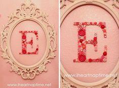 diy monogram button letters