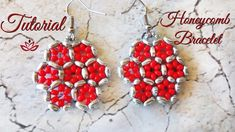 Honeycomb Beaded Earrings - Tutorial