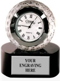 Do You Give Your Dad Enough Time During the Week? If Not, This is a Great #Golf Gift for Dad! Engrave with Your Special Thoughts. https://www.crownawards.com/StoreFront/GLCLGF.ALL.Crystal_Awards.Golf_Ball_Crystal_Clock.prod